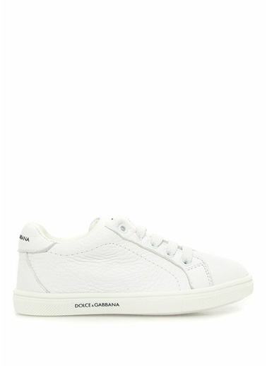 Dolce&Gabbana Dolce&Gabbana  Logolu Erkek Çocuk Deri Sneaker 101557440 Beyaz